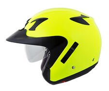 Scorpion Motorcycle Helmet Full-Face EXO-CT220 Solid Neon W Peak Visor DOT Appvd