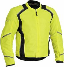 Firstgear Mesh Tex Men's Windproof Motorcycle Riding Jacket Tall DayGlo/Black