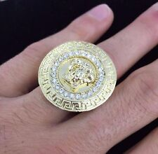 14k Gold Plated Medusa-Head-Versace-Style-Men's Ring Size: 10, 11 , 12