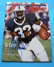 Ki-Jana Carter SIGNED Beckett Focus On Future Stars #48, April 1995 EXCELLENT