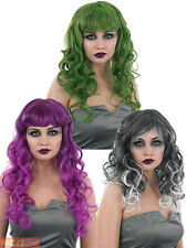 Ladies Temptress Wig Adults Halloween Fancy Dress Witch Ghost Vampire Accessory