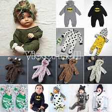 Newborn Toddler Kids Baby Boys Girls Outfits Clothes RomperS Jumpsuit Bodysuit