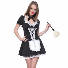 Naughty Ladies French Maid Fancy Dress Halloween Cosplay Servant Lolita Costume
