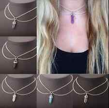 Gemstone Natural Crystal Quartz Healing Point Chakra Stone Pendant for Necklace