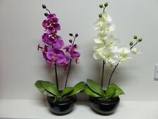 Large White or Pink Orchid Artificial Potted Plant In A Pot House Office Indooor