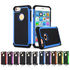 For iPhone 7&7 Plus Double Layer Shockproof Hybrid Rubber Rugged Case Skin Cover