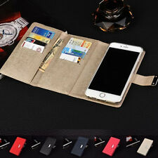For iPhone 7&7 Plus Removable Dual Flip Leather Magnetic Wallet Card Case Cover