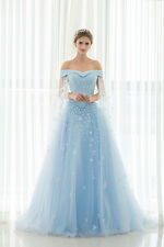 New Blue Ready Made Party Gown Prom Evening Dress US Size 4 6 8 10 12 14 16
