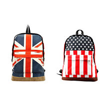 Flag Union Style Backpack Shoulder School Bag BackPack Canvas gtdy