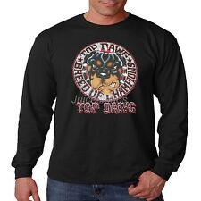 Rottweiler Long Sleeve Shirt Top Dawg Breed Of Champions Dog Owner