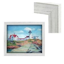Modern Contemporary Rustic White Wood Frame For Art Painting Photo Picture Gray
