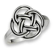 Sterling Silver Classic Celtic Jewelry Knot Knotwork Fashion Ring Size 5-9