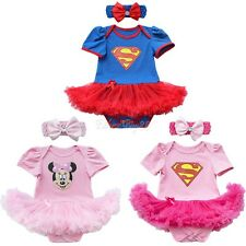 Baby Toddler Fancy Dress Party Superman Halloween Costumes Outfit Playsuit 0-12M