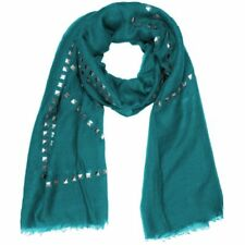 Ladies Scarf with silver coloured Studs plain Many Colours