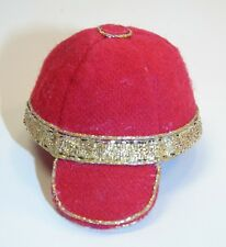 Handmade Small Red Flannel BASEBALL Hat for Barbie little Sister Kelly OOAK