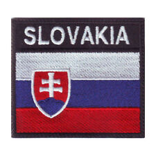 SLOVAKIA BADGE FLAG EMBROIDERED  PATCH