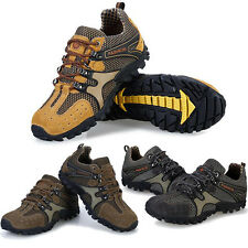 New Men's Leather Training Climbing Athletic Outdoor Hiking Sneakers Sport Shoes