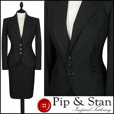 NEXT UK14 US10 BLACK PENCIL SKIRT SUIT BUSINESS WOMENS LADIES SIZE