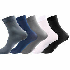 5/10 Pairs Casual  Men's Short Thin Bamboo Fiber Socks Stockings Middle Socks