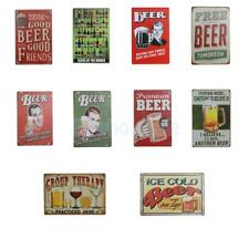 Retro Metal Tin Sign Plaque Vintage Beer Theme Picture Bar Pub Man Cave Decor