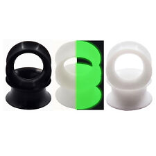 Kit 6pcs Earskin Flexible Silicone Ear Plug Ear Gauge Hollow Tunnel Double Flare