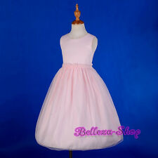 Pink Beaded Satin Dress Wedding Flower Girl Pageant Occasion Toddler Sz 3T-6 263