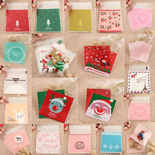 100pcs 10x10cm Plastic Cookie Sweet Candy Packaging Bags Party Gift Wedding Xmas
