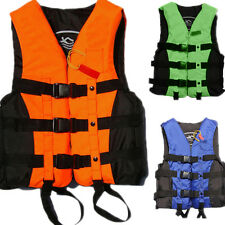 Polyester Adult Life Jacket Universal Swimming Boating Ski Vest+Whistle New qGQ