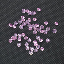 Wholesale 4MM Pink Round Cubic Zirconia Stone Loose 50-200pcs A LOT