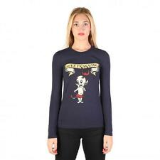 Love Moschino Clothing Women T-shirts Blue 74792 Outlet BDX