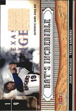 2002 Fleer Genuine Bats Incredible Game Used #9 Juan Gonzalez Bat Card