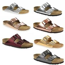 Birkenstock Arizona Metallic Mens Womens Sandals Smooth Leather Original SFB