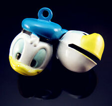 FREE 2PCS donald duck White Animal Copper Bells Pendants Charms Ornaments 24mm