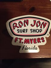 Ron Jon Surf Shop Sticker Decal Fort Myers Florida Ft. Myers