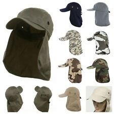 Men's Baseball Cap Ear Neck Cover Hiking Fishing Snap Brim Sun Flap Ball Hat