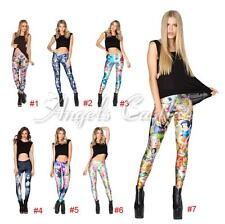 Women's Sexy Graphic Printed Stretch Leggings Yoga Gym Funky Sports Slim Pants