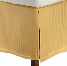 One Bed Skirt/valance 100% Egyptian Cotton 15 Inch Drop 1000 TC Gold Stripe