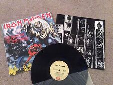 IRON MAIDEN - THE NUMBER OF THE BEAST LP - AUSTRALIAN RELEASE LP