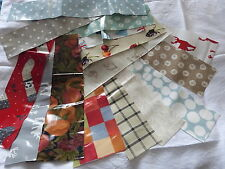 Cotton Oilcloth~ remnant strips for bunting or craft ~ assorted ~ min 65x75cm