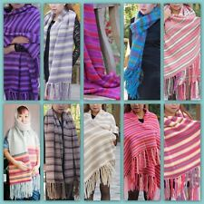 New Winter Women's Man's Hand-knitted Cashmere Wool Soft Warm Wrap Shawl Scarf