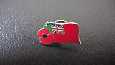 GB MERCHANT NAVY RED ENSIGN  FLAG TO WEAR TO REMEMBER ENAMEL PIN BADGE. - NEW