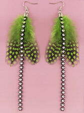 JF300 Wholesale Lots Feather Earrings Silver Tone Hook Dangle You Pick Quantity