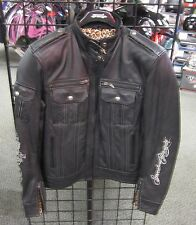 """Speed and Strength """"Little Miss Dangerous"""" Leather Jacket, Womens, Black"""