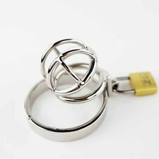 The Nano Small Stainless Steel Male Chastity Cage Device Belt Restraint Tiny CBT