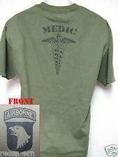 101ST AIRBORNE T-SHIRT/ MEDIC/ MILITARY/ ARMY/  NEW