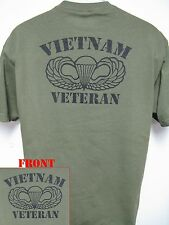 VIETNAM VETERAN T-SHIRT/ AIRBORNE/ NEW/ MILITARY