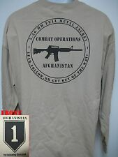 1ST INFANTRY DIVISION AFGHANISTAN OPERATION long sleeve T-SHIRT/ fnt Afghan/ NEW