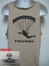 USMC FORCE RECON TANK TOP/ PARAFROGS TANK TOP/ MILITARY/ MARINES T-SHIRT/  NEW