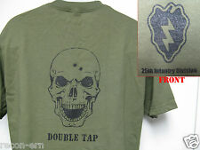 25th ID T-SHIRT/ SKULL DOUBLE TAP/ COMBAT/ MILITARY T-SHIRT/  NEW