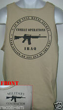 PRIVATE MILITARY CONTRACTOR TANK TOP / IRAQ COMBAT OPS /  NEW